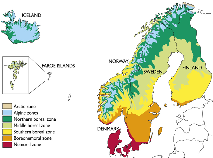 Geography And Environment - Norway map in english
